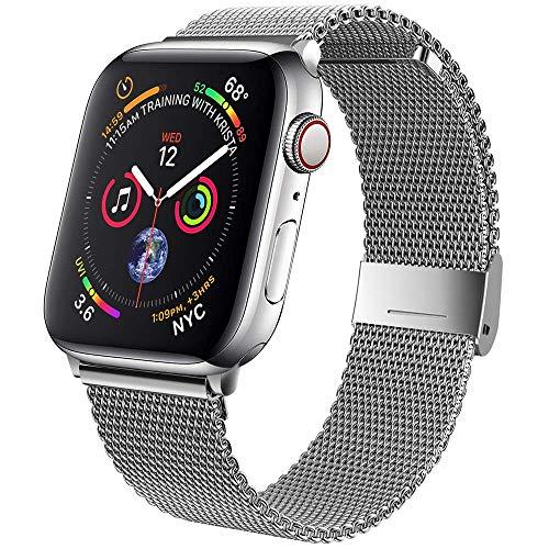 SSEIHI Compatible pour Bracelet Apple Watch 38mm 40mm 42mm 44mm,Bracelets de Remplacement en Acier Inoxydable avec Aimant Compatible avec iWatch Series SE/6/5/4/3/2/1
