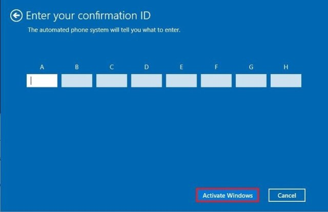 Windows 10 activation with transfer product key