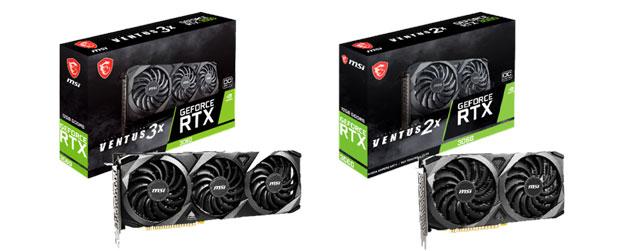 GeForce RTX 3060 Ventus series de MSI