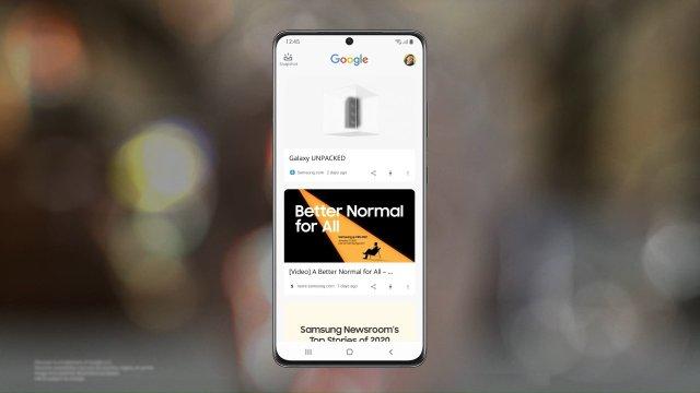 Samsung Galaxy S21 Google Discover Feed