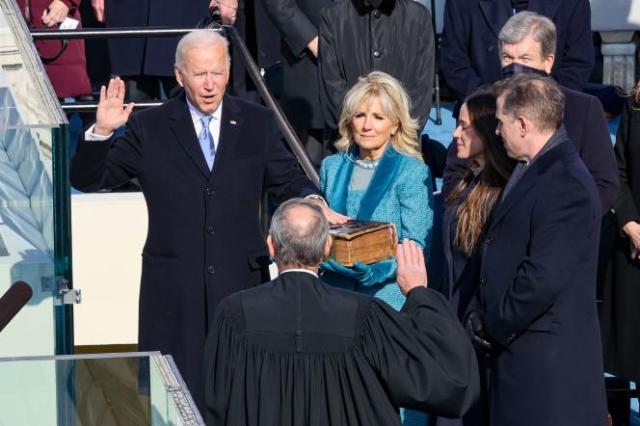 Joe Biden, devenu le 46e président des Etats-Unis, au Capitole de Washington, le 20 janvier 2021.