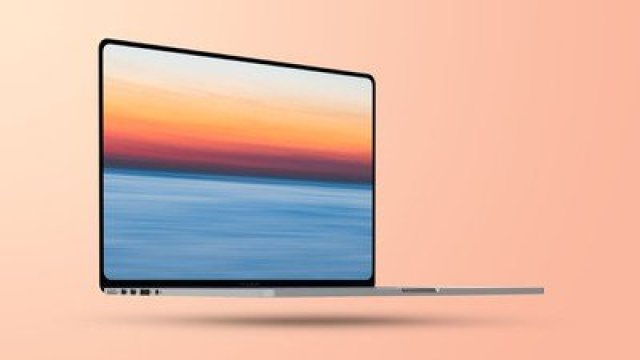 Flat 2021 MacBook Pro Mockup Feature