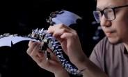 Xiaomi MI 11 disassembled and reassembled into a dragon sculpture