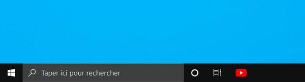Application PWA Youtube épinglée à la barre des tâches de Windows 10