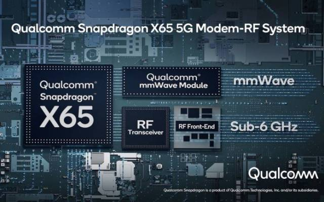 Qualcomm Snapdragon X65 10 Gigabit 5G 3GPP 16 Modem-to-Antenna Solution