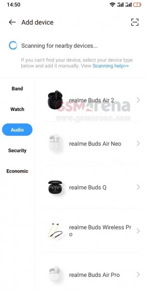 Realme Buds Air 2 popped up in Realme Link app