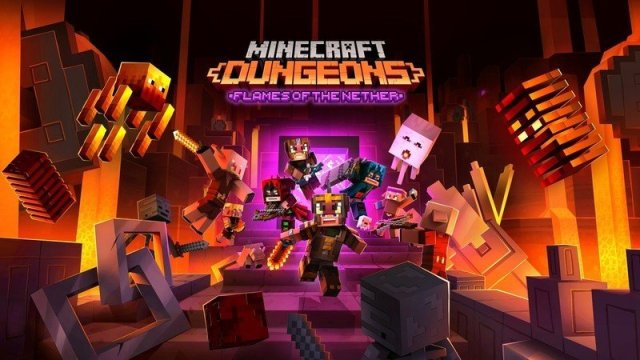 Minecraft Dungeons Flames Of The Nether Dlc Hero