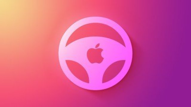 Apple car wheel icon feature triad