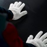 Each carbon fiber monocoque is hand molded