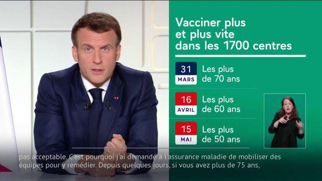Covid-19 : Emmanuel Macron annonce un nouveau calendrier pour les vaccinations