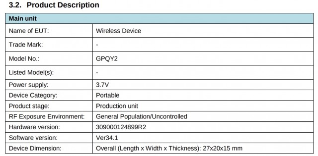 Alleged Pixel Buds A listing on FCC