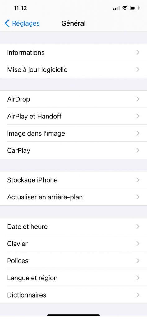 iOS et le service de mise à jour