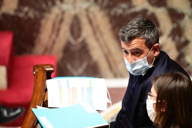 Le ministre de l'intérieur, Gérald Darmanin, lors de la séance de questions au gouvernement, à l'Assemblée nationale, le 9 mars.