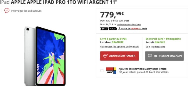 iPad Pro Darty