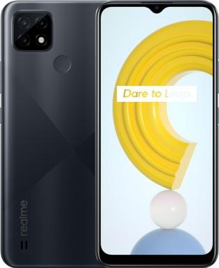Realme C21 in Cross Black color