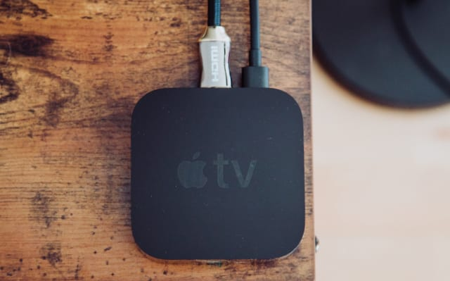 Apple TV on a table