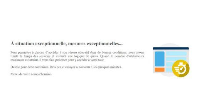 Capture d'écran du portail de l'ENT Ile-de-France, le 6 avril 2021, vers 11h45. (ILE DE FRANCE)