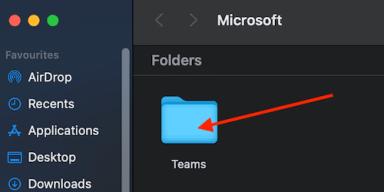 microsoft teams cache folder mac