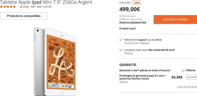 iPad mini 5 Boulanger