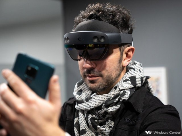 HoloLens 2 with phone