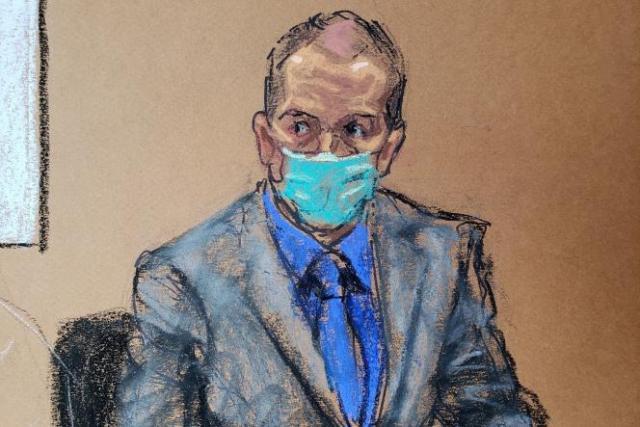 L'ancien officier de police de Minneapolis Derek Chauvin lors de son procès pour meurtre au deuxième degré, meurtre au troisième degré et homicide involontaire de George Floyd à Minneapolis, dans le Minnesota, le 19 avril 2021.
