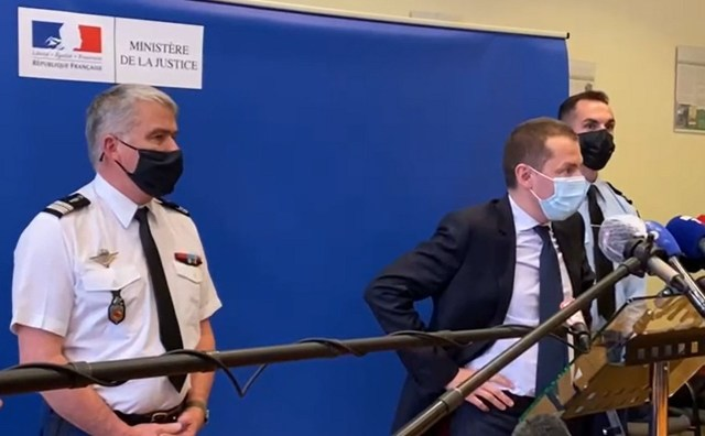 Le procureur de la République d'Epinal Nicolas Heitz lors d'une conférence de presse, mercredi 14 avril 2021.