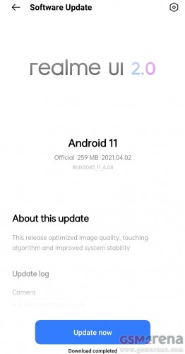 Realme 8 gets Starry Mode with second software update