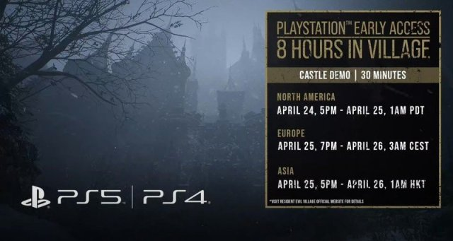 Resident Evil Village Ps4 Demo Times
