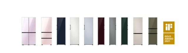 Samsung BESPOKE Refrigerator City Color Panels IF Design Gold Award 2021