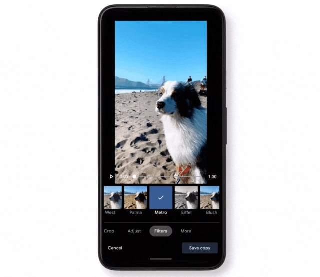 Google Photos outils video