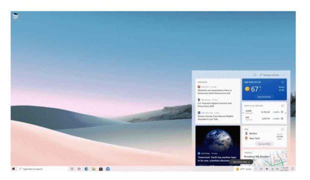 Windows 10 et le Widget Actualités et météo de la barre des tâches