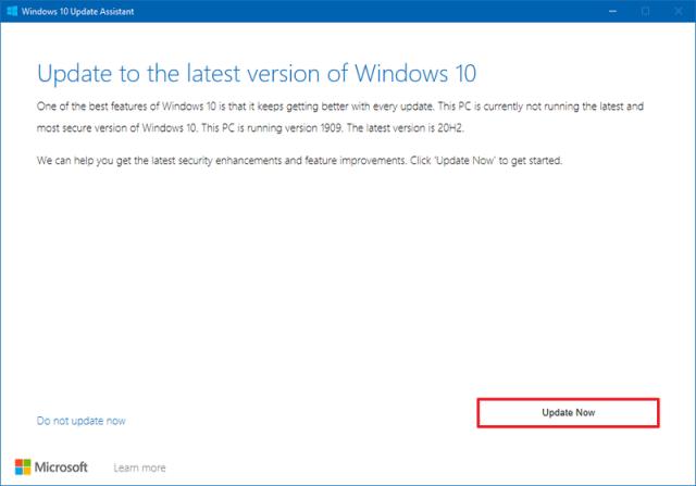 Windows 10 version 21H1 Update Assistant
