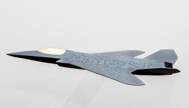 Une modélisation du futur avion de combat européen imaginé par l'Allemagne, la France et l'Espagne.