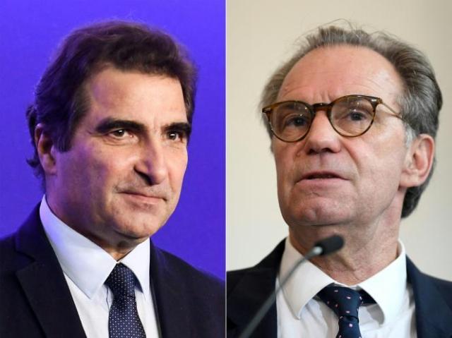 Le président des Républicains Christian Jacob, à gauche, a annoncer retirer à Renaud Muselier (à droite) son investiture pour les élections régionales.