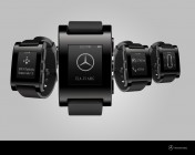 Pebble watch concept that would let you check up on your Mercedes