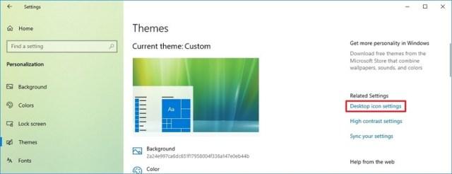 Desktop icon settings