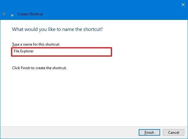 Shortcut open File Explorer