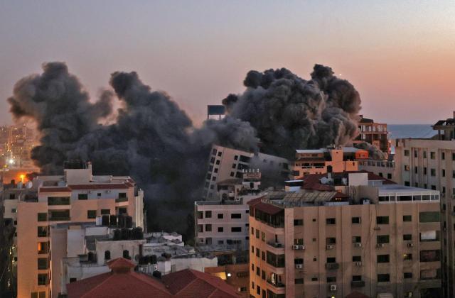 La tour Hanadi dans la ville de Gaza, le 11 mai 2021.