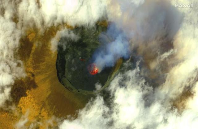 Image satellite du volcan.