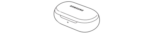 Sketch of the Samsung Galaxy Buds2 charging case