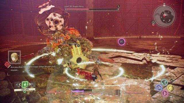 Scarlet Nexus battle scene