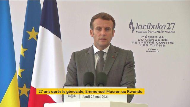 """VIDEO. """"Un génocide ne s'efface pas, il est indélébile"""", déclare Emmanuel Macron depuis le Rwanda"""