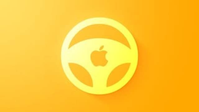 Apple car wheel icon feature yellow