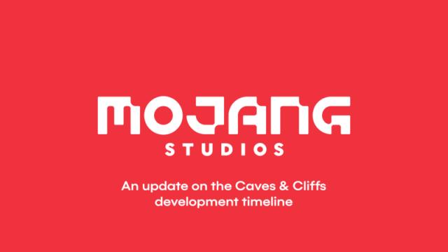 Minecraft Caves & Cliffs Update Delay Announcement