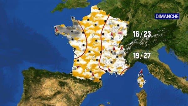 Les prévisions météo du dimanche 20 juin 2021.