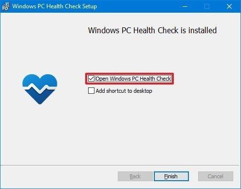 PC Health Check setup