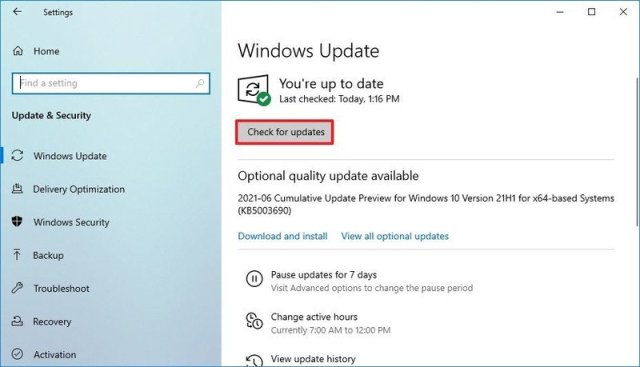 Windows 11 download from Windows Update