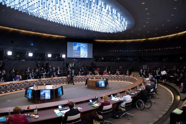 Les dirigeants des pays membres de l'OTAN, à Bruxelles, le 14 juin 2021.
