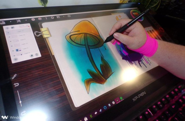 Drawing on XP Pen Artist 24 Pro