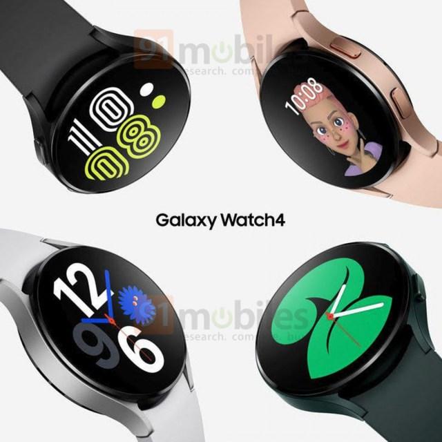 Samsung Galaxy Watch4 alleged official renders leak